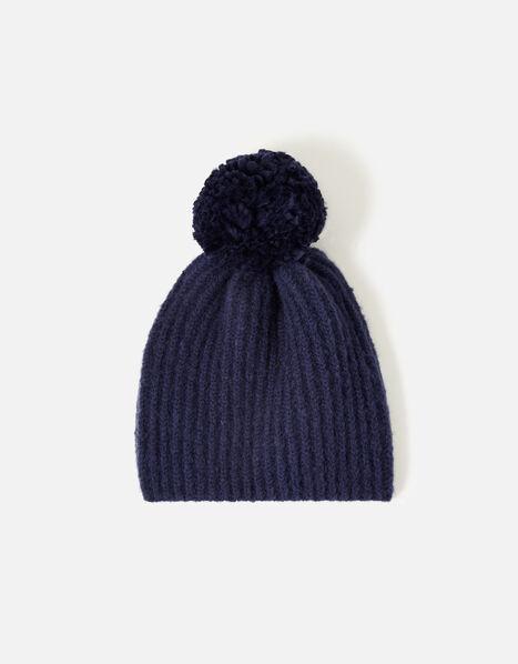 Girls Glove and Hat Set  Blue, Blue (NAVY), large