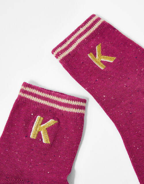 Initial Ankle Socks - K, , large