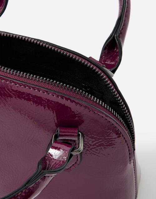 Nikki Patent Handheld Bag , Red (RED), large