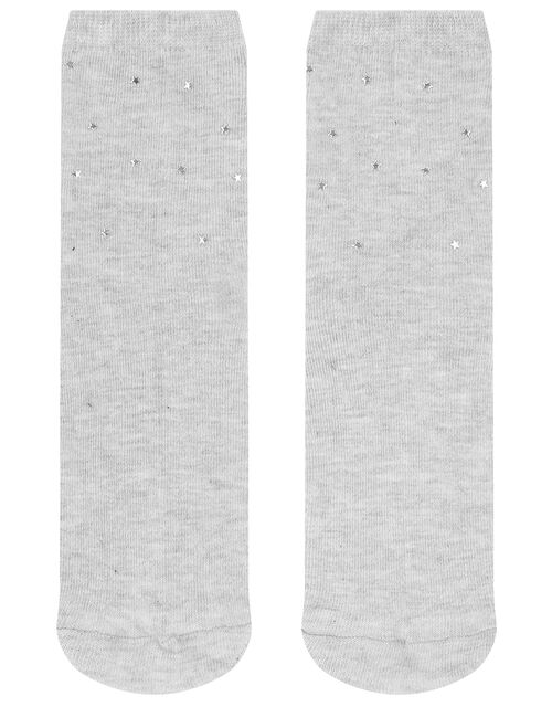 Star Stud Cropped Socks, , large