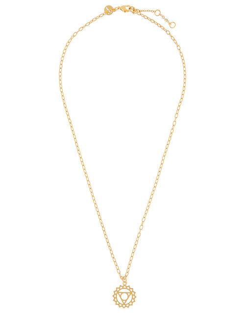 Gold-Plated Solar Plexus Chakra Necklace, , large