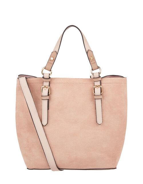 Betty Handheld Bucket Bag, Nude (NUDE), large