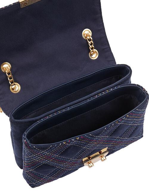 Rainbow Stitch Shoulder Bag, , large