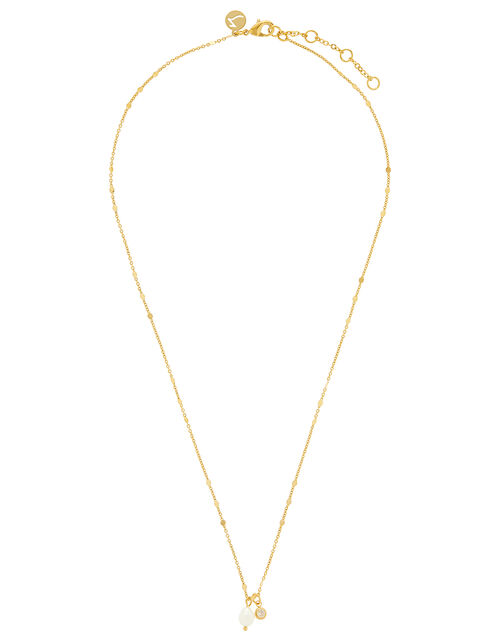 Long Chain Lariat Necklace, , large