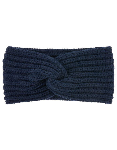 Soft Knit Bando Headband, Blue (NAVY), large