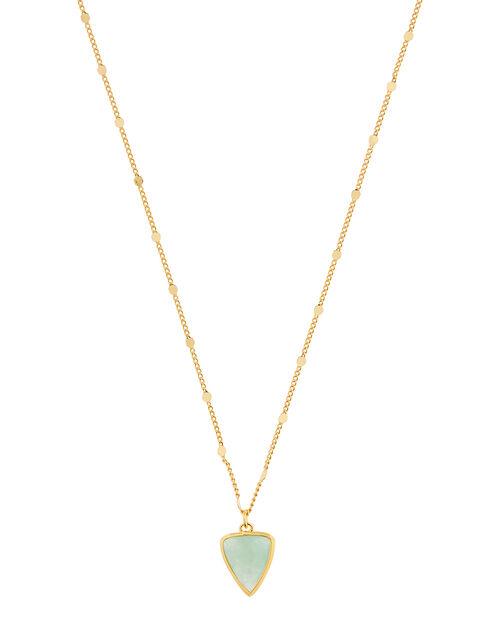 Healing Stones Aventurine Pendant Necklace, , large