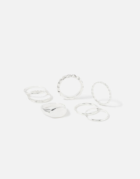 Berry Blush Stacking Rings Silver, Silver (SILVER), large