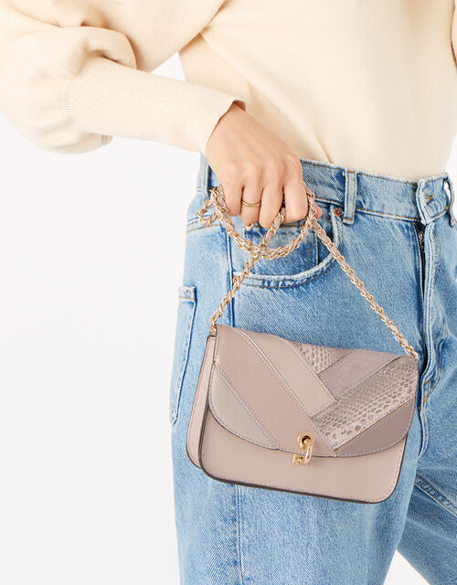 Patchwork Cross-Body Bag, , large