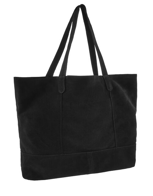 Slouchy Suede Tote Bag, , large