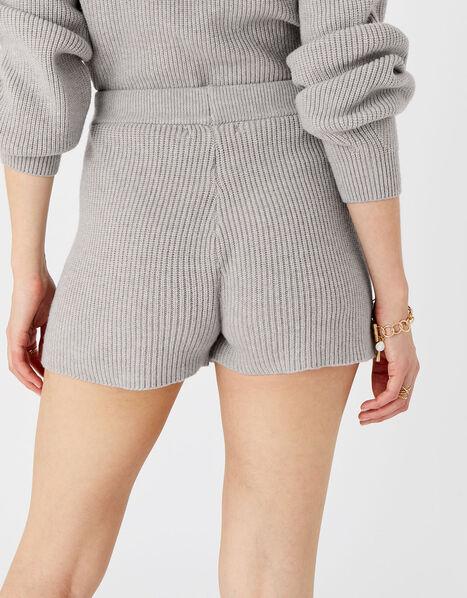 Knit Rib Lounge Shorts Grey, Grey (LIGHT GREY), large