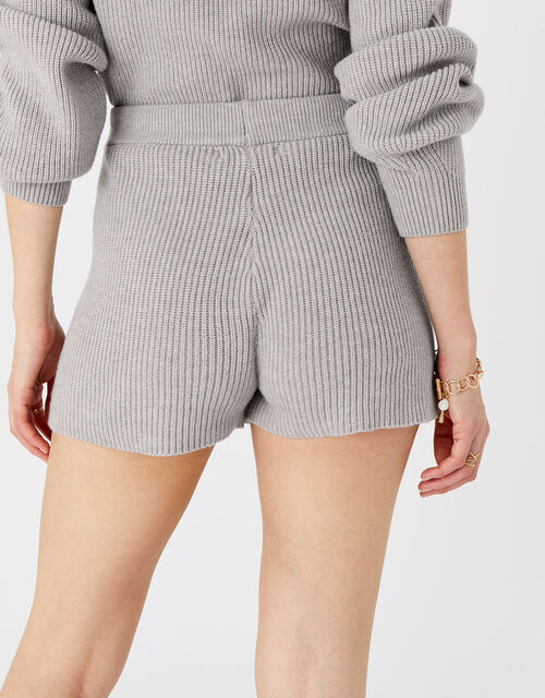 Knit Rib Lounge Shorts, Grey (LIGHT GREY), large