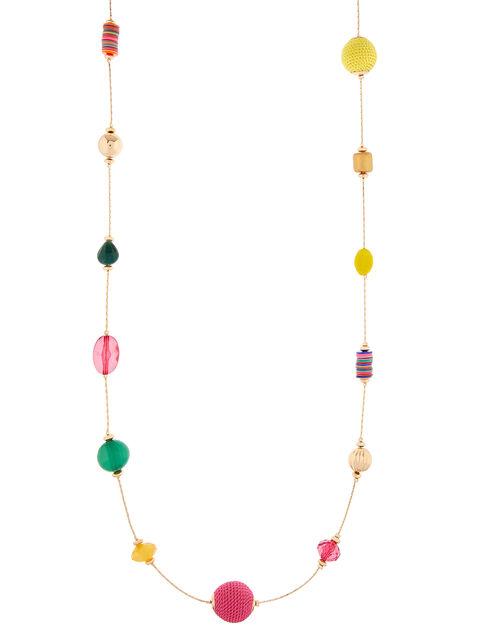 Ivory Coast Coloured Bead Rope Necklace, , large