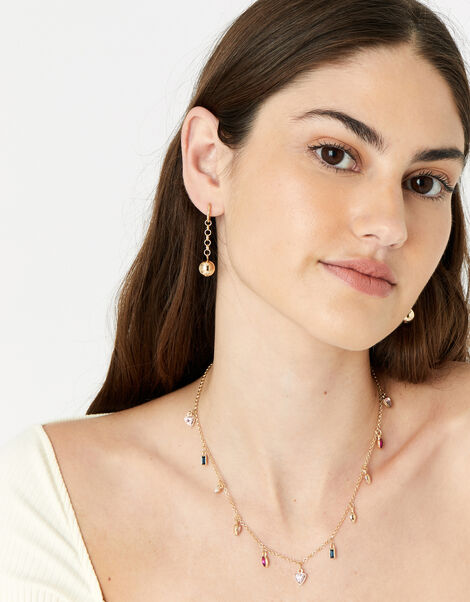 New Decadence Gem Droplet Necklace, , large