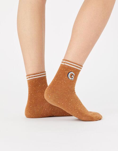 Initial Ankle Socks - J, , large