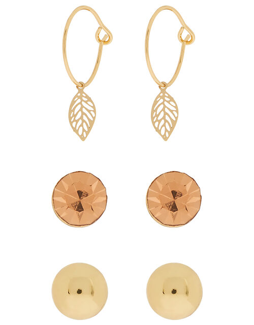 Gold-Plated Filigree Drop Earrings, , large