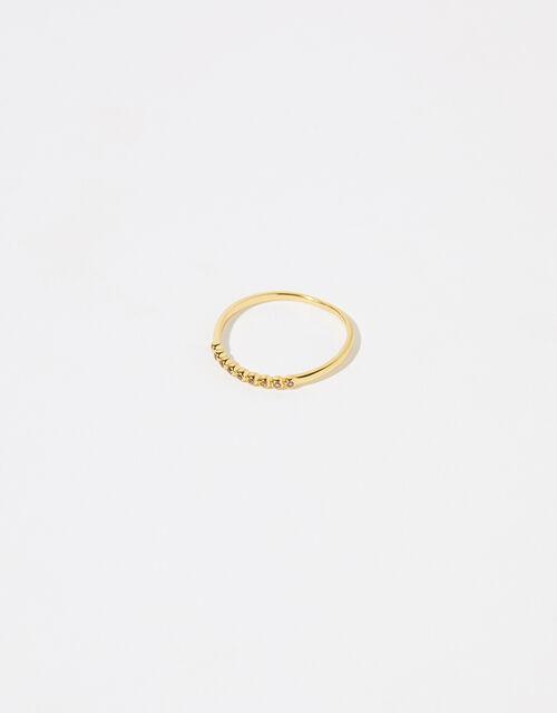 Gold Vermeil White Topaz Ring, Gold (GOLD), large