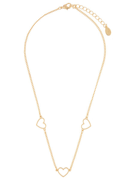 Heart Station Necklace, , large