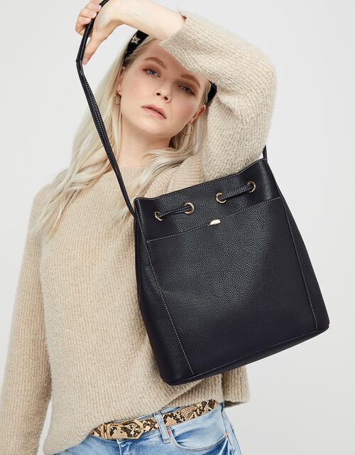 Nerissa Vegan Handbag, Black (BLACK), large