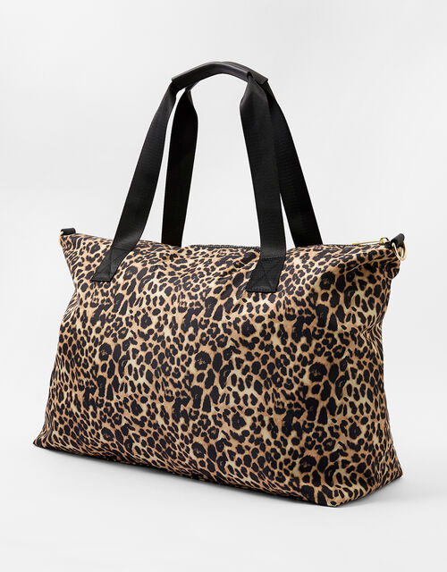 Robyn Leopard Print Weekend Bag, , large