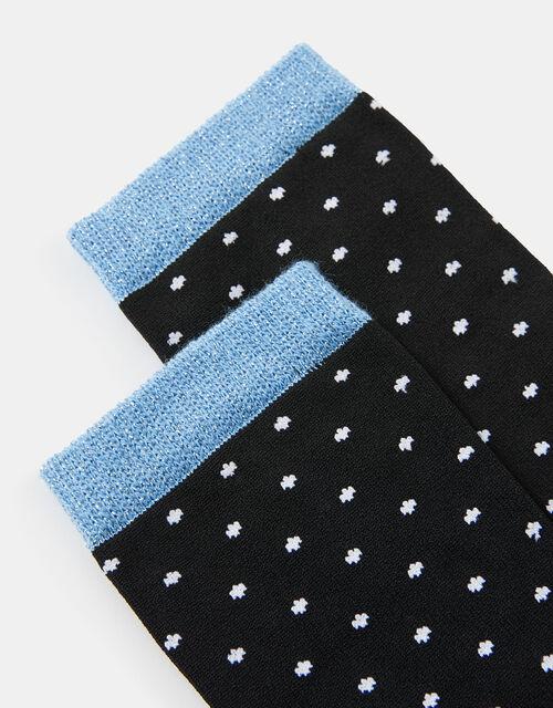 Pinspot Glitter Cuff Ankle Socks, , large