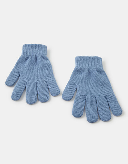 Super-Stretchy Touchscreen Gloves, Blue (BLUE), large
