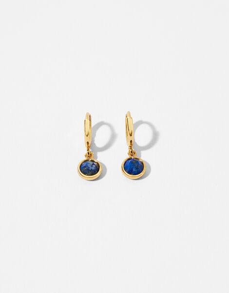 Gold-Plated Birthstone Earrings - September, , large