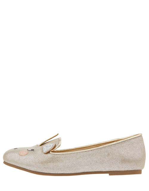 Metallic Unicorn Slipper Shoes, Gold (GOLD), large