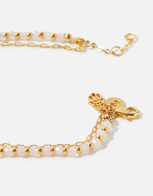 Gold-Plated Rose Bead Bracelet, , large