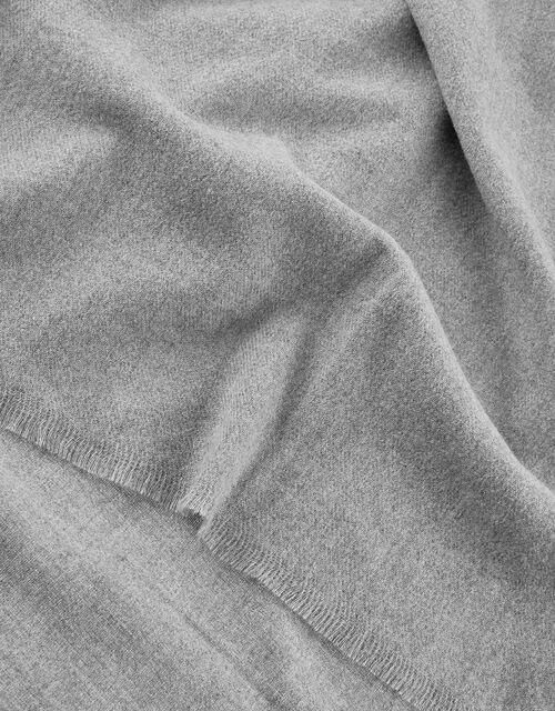 Wells Blanket Scarf Grey, , large