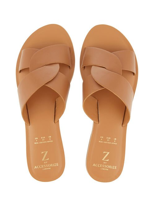 Seville Twist Sliders, Tan (TAN), large