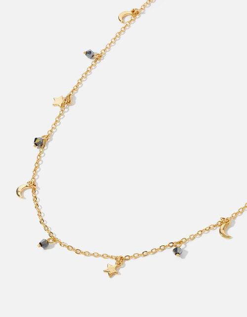Gold-Plated Celestial Necklace , , large