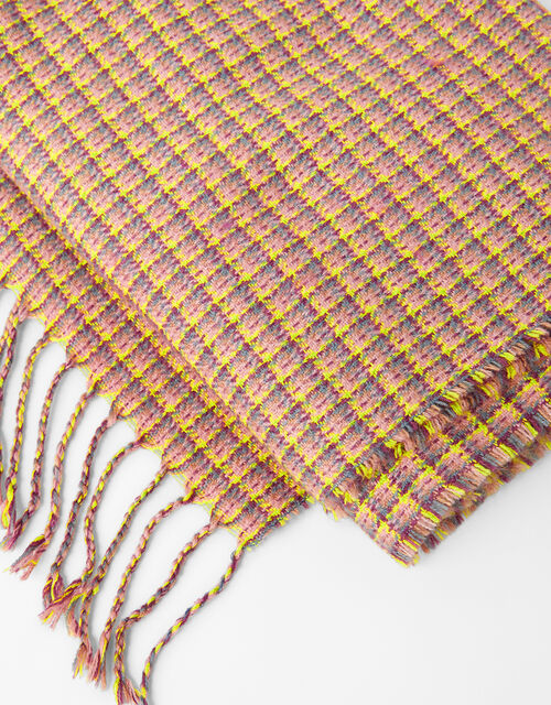 Cher Check Blanket Scarf, , large
