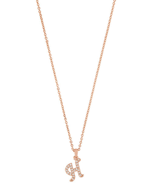 Sparkle Initial Necklace - H, , large