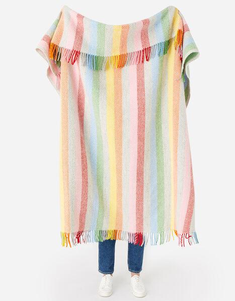 Tweedmill Tassel Throw in Pure Wool Multi, Multi (BRIGHTS-MULTI), large