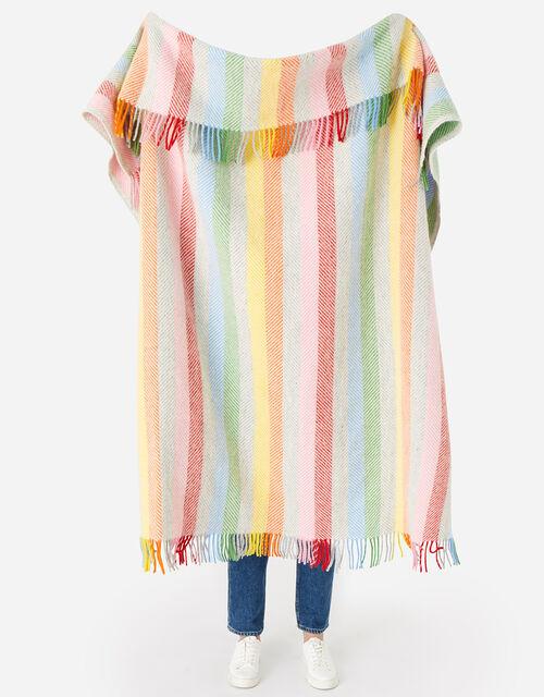 Tweedmill Tassel Throw in Pure Wool, Multi (BRIGHTS-MULTI), large
