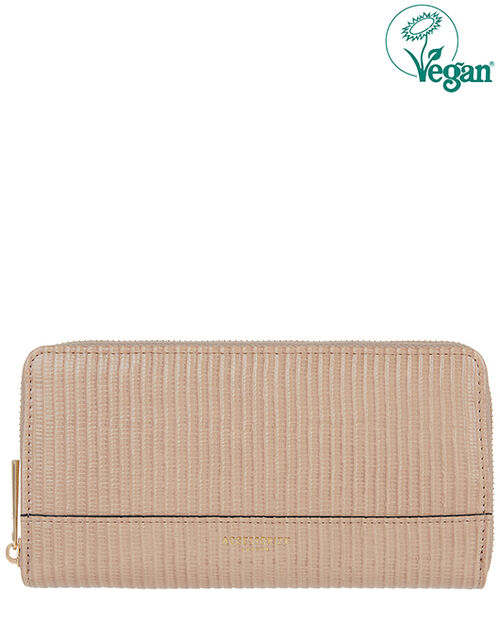 Large Reptile Wallet, Nude (NUDE), large