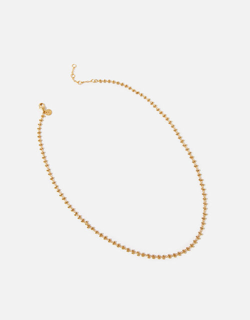 Gold-Plated Bobble Chain Necklace, , large