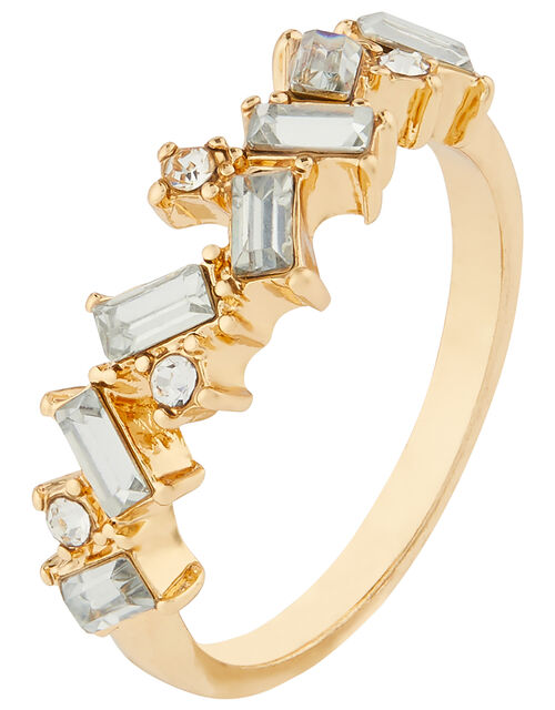 Sparkle Baguette Gem Ring, White (CRYSTAL), large