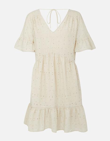 Schiffli Mini Dress  Camel, Camel (BEIGE), large