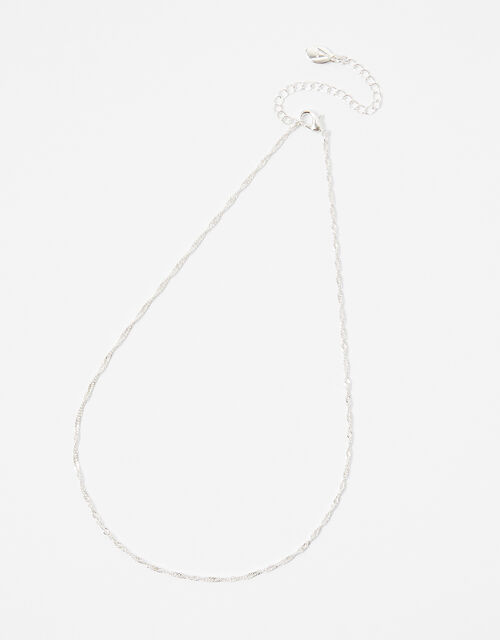 Twist Chain Necklace, Silver (SILVER), large