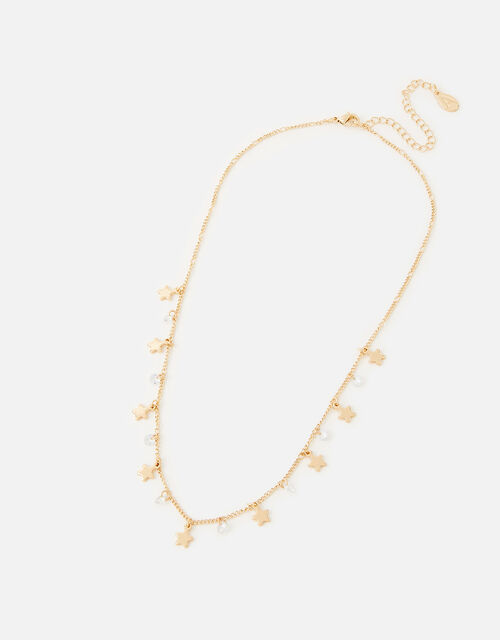 New Decadence Star and Crystal Drop Necklace, , large