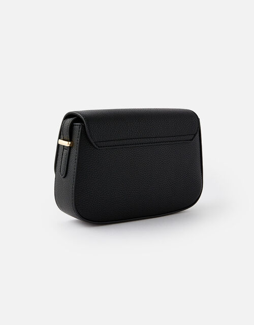 Ruby Saddle Cross-Body Bag , Black (BLACK), large