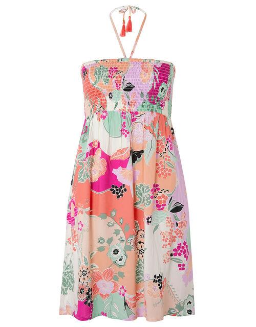 Printed Bandeau Dress, Multi (PASTEL-MULTI), large