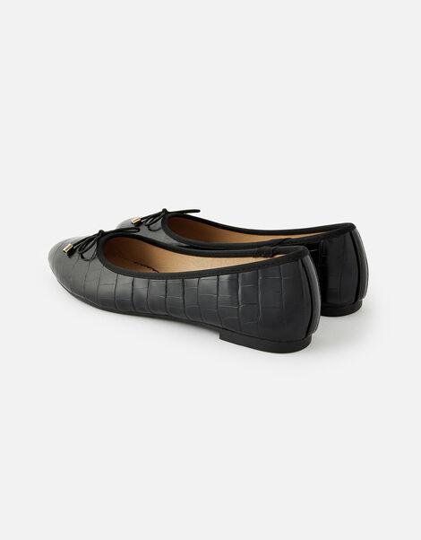 Croc Ballerina Flats Black, Black (BLACK), large