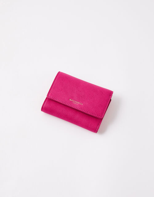 Reptile Tri-Fold Wallet, Pink (FUCHSIA), large
