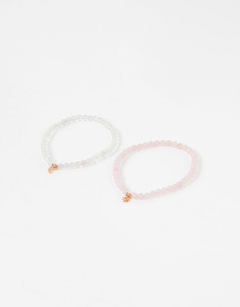 Healing Stones Bracelets - Rose Quartz and Clear Quartz, , large