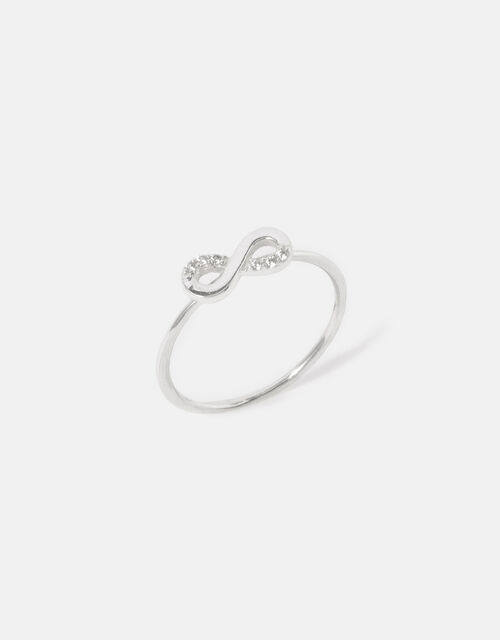 Sterling Silver Infinity Ring, Silver (ST SILVER), large
