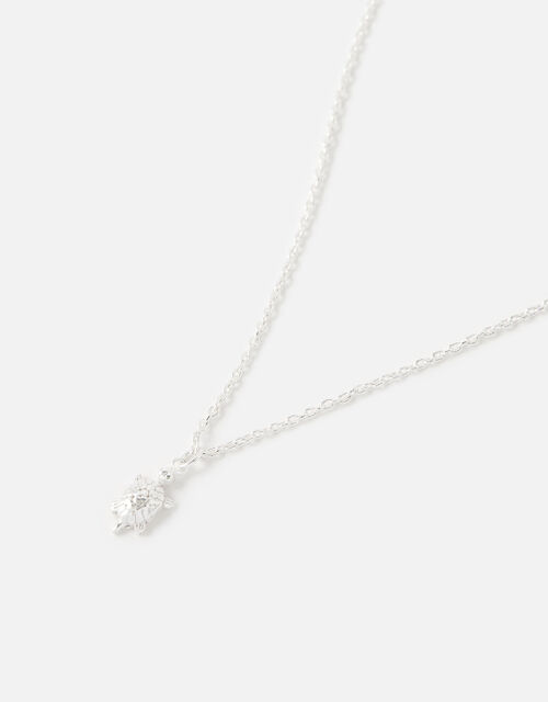 Sterling Silver Tilly Turtle Necklace, , large