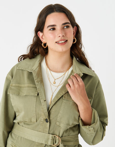 Berry Blush Mix Chain Pendant Necklace, , large