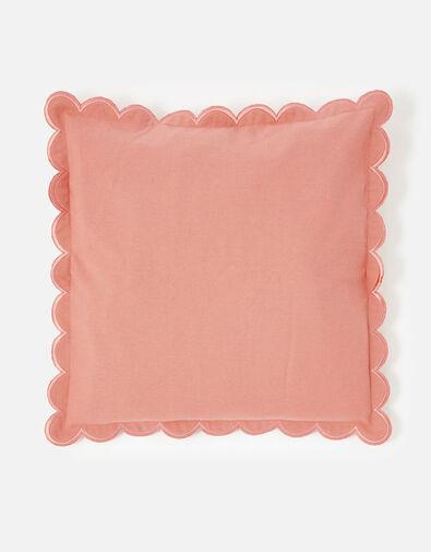 Scallop Edge Cushion Cover Orange, Orange (ORANGE), large